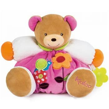 Мишка Kaloo 9632006 мягкая игрушка Large Pink Flower Chubby Bear 30 см Коллекция Kaloo Colours Франция