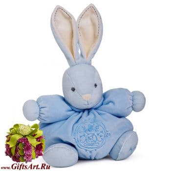 Кролик Kaloo 9621451 мягкая игрушка Medium Blue Rabbit Высота 25 см Коллекция Kaloo PERLE  Франция
