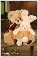 Мишка Хэмиш и заяц Пикси Hamish and Pixie 35 см Коллекция Queenstown Settler Bears Австралия