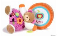 Мишка Kaloo 9632006 мягкая игрушка Large Pink Flower Chubby Bear 30 см Коллекция Kaloo Colours Франция - вид 1 миниатюра