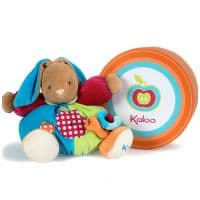 Заяц Kaloo 9632501 мягкая игрушка Large Chubby Rabbit Apples with Snail Friend 30 см Коллекция Kaloo Colours  Франция