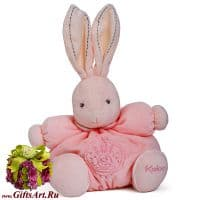 Кролик Kaloo 9621468 мягкая игрушка Medium Pink Rabbit Высота 25 см Коллекция Kaloo PERLE  Франция