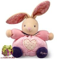 Кролик Kaloo 9698637 мягкая игрушка Small Rabbit Heart Высота 18 см. Коллекция Petite Rose Kaloo Франция