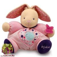 Кролик Kaloo 9698576 мягкая игрушка Large Rabbit Высота 30 см. Коллекция Petite Rose Kaloo Франция